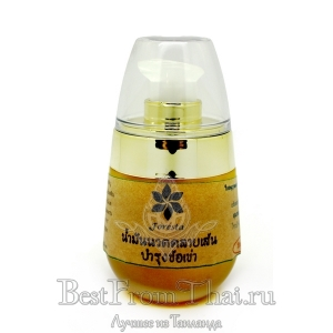 Жидкий желтый бальзам из масла моринги с целебными травами
