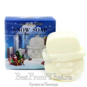 Новогоднее снежное мыло