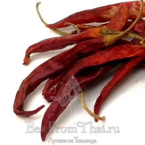Тайский красный острый перец в стручках 100 грамм