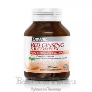 Экстракт красного корейского женьшеня с комплексом витамина В, лецитином и минералами