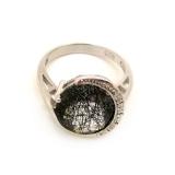 "Серебряное кольцо с рутиловым кварцем ""волосатик"" 0357-R-RB"