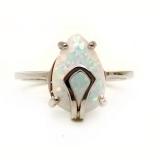 Серебряное кольцо с натуральным белым опалом 0926-R-OW