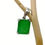 Серебряный кулон с зеленым нефритом 023-P-GJ