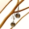 Серебряные серьги с раухтопазом 1366-E-SQ