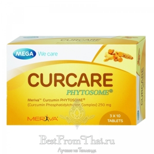 Куркумин Mega we care Curcare Phytosome 250mg 30 капсул