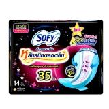 Трехмерные ночные прокладки с крылышками Sofy Body Fit 35cm Night Sanitary