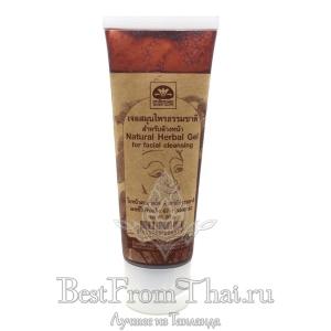 Натуральный травяной гель для очистки кожи лица
