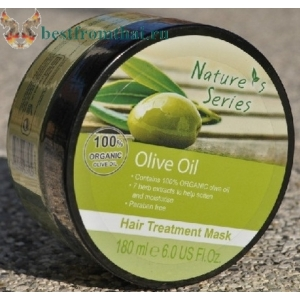 Органическая оливковая маска для волос Nature's Series
