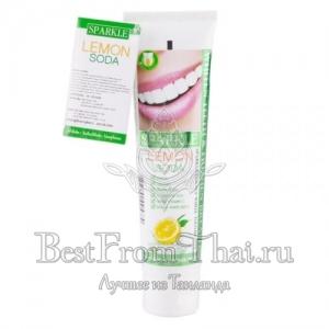 Отбеливающая зубная паста «Sparkle»  лимон