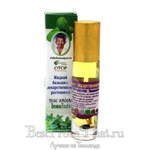 Жидкий бальзам-ингалятор настояный на лечебных травах.