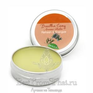 Натуральный ароматический бальзам Refresh & Energize
