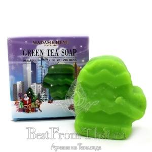 """Мыло """"зеленый чай""""  из рождественской серии Мадам Хенг"""
