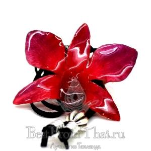 Кулон из цветка орхидеи розовый