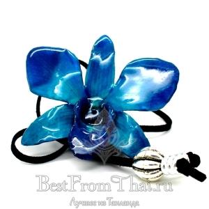 Кулон из цветка орхидеи синий