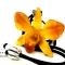 Кулон из цветка орхидеи желтый