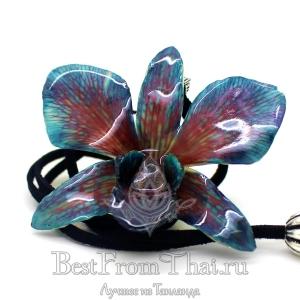 Подвеска орхидея красно-синяя