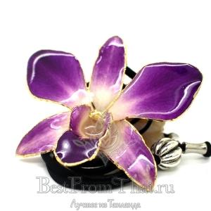 Сиреневая орхидея с золотом