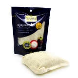 Натуральное массажное мыло-мочалка с мангостином