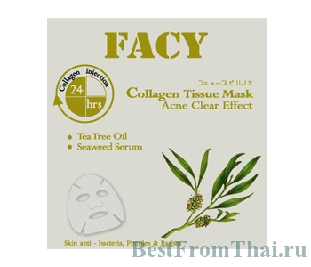 facy collagen tissue mask acne clear effect 2.В Уход за проблемной кожей