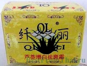 китайский отбеливающий крем зеленый чай