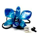 кулон из орхидеи синий