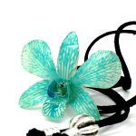 Кулон бирюзовая орхидея