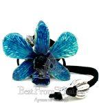 Подвеска орхидея голубая